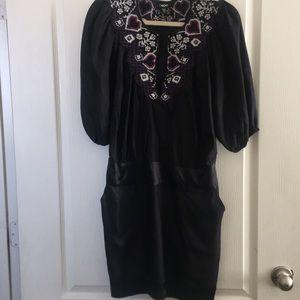 BeBe Balloon sleeve dress / 100% silk
